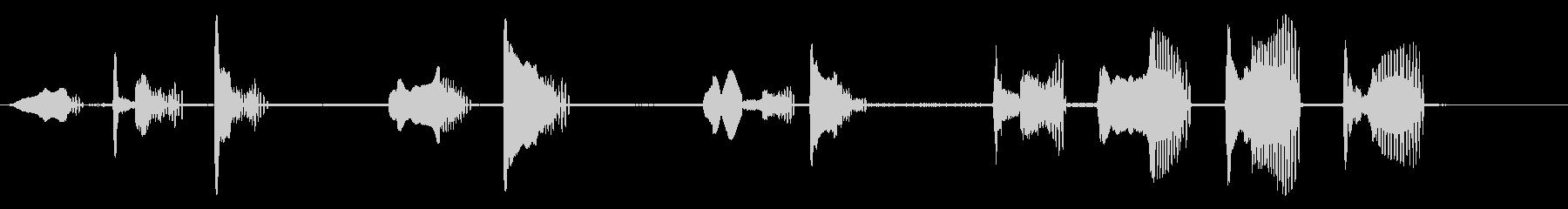 ミラノ・ブラックの未再生の波形