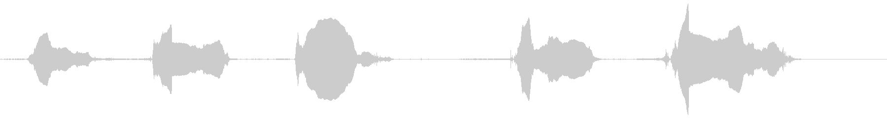 犬-Barえる8シベリアンハスキーの未再生の波形