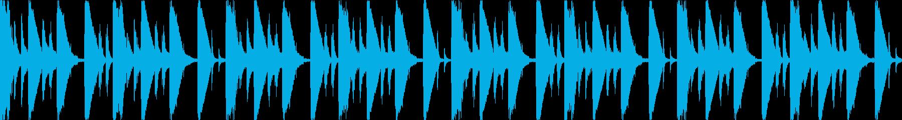 【ループF】浮遊感あるシンセが続くテクノの再生済みの波形
