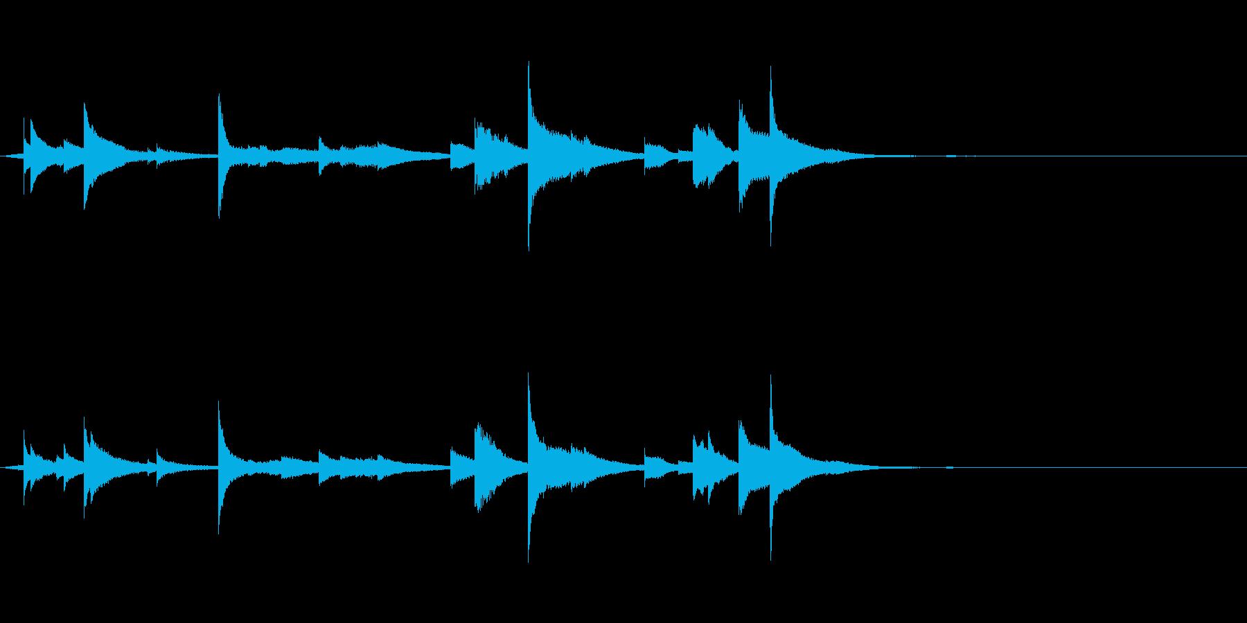 シャララーン…鐘の音色のような金属音2の再生済みの波形