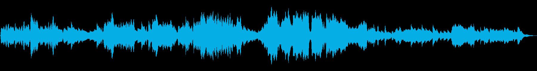 不思議な森 ループ曲 フルートとハープの再生済みの波形
