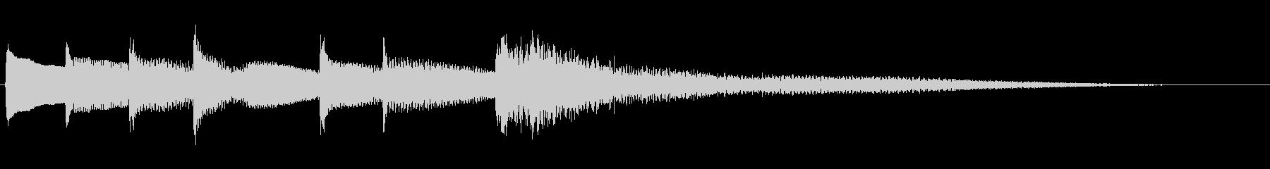 のびやかな優しいピアノジングルの未再生の波形