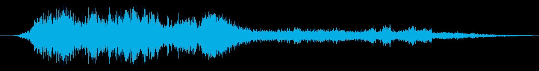爆竹ファイアホイール花火の再生済みの波形