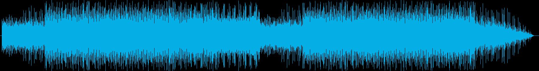 疾走感あるテクノポップの再生済みの波形