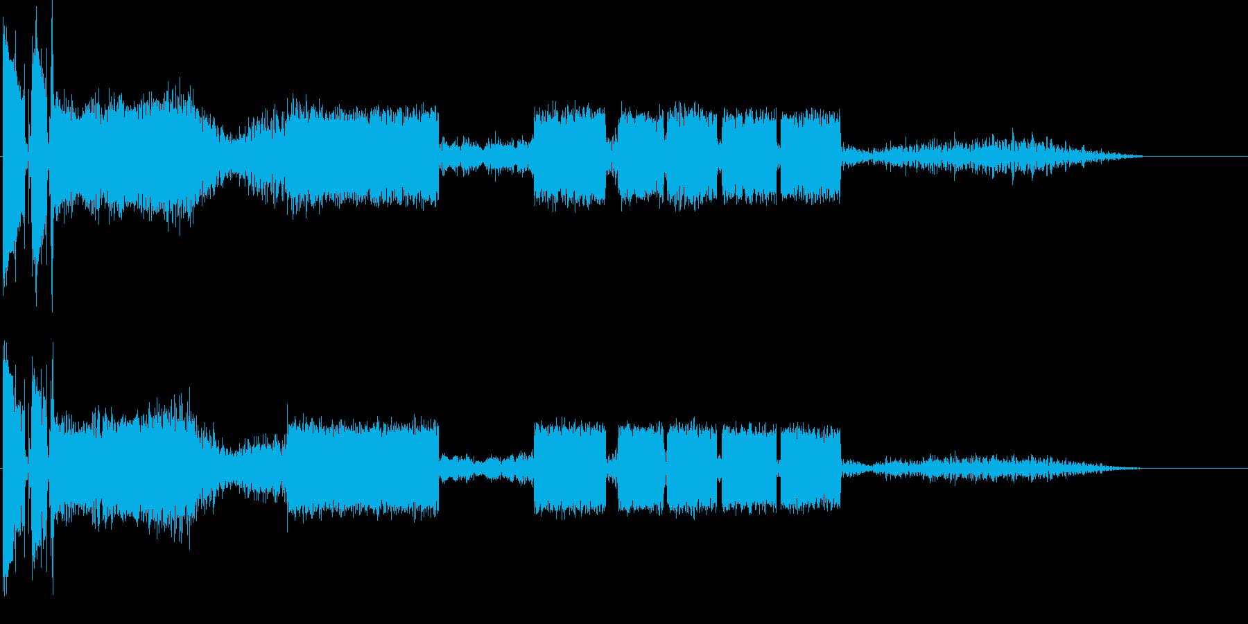 電話とトーンの再生済みの波形