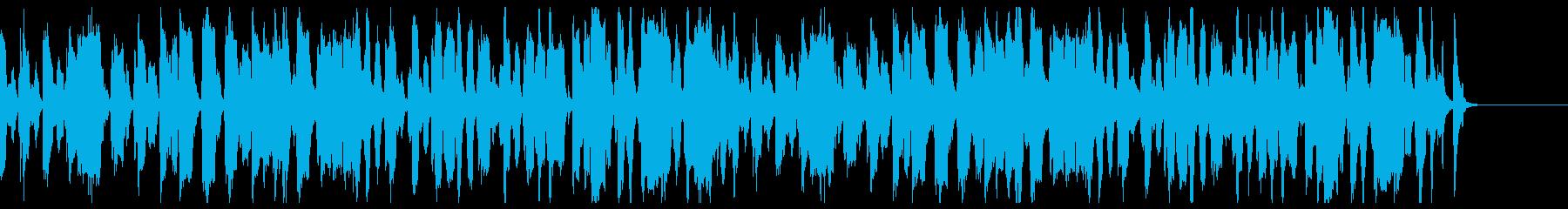 ほのぼの、間抜け、ビートが効いてる曲の再生済みの波形
