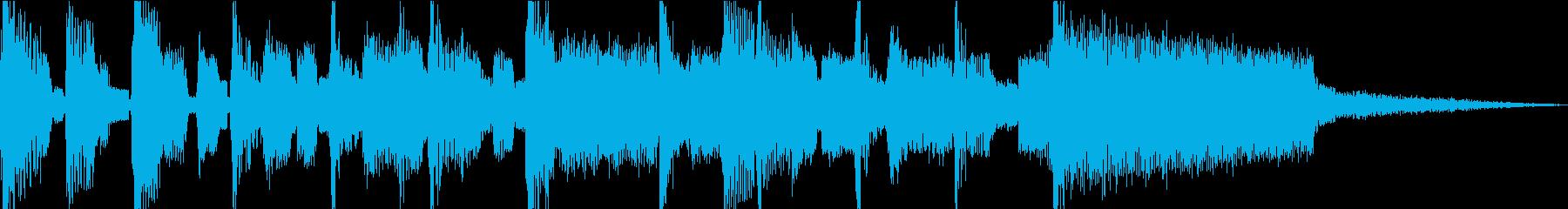 チップチューンでロック系5秒ジングルの再生済みの波形