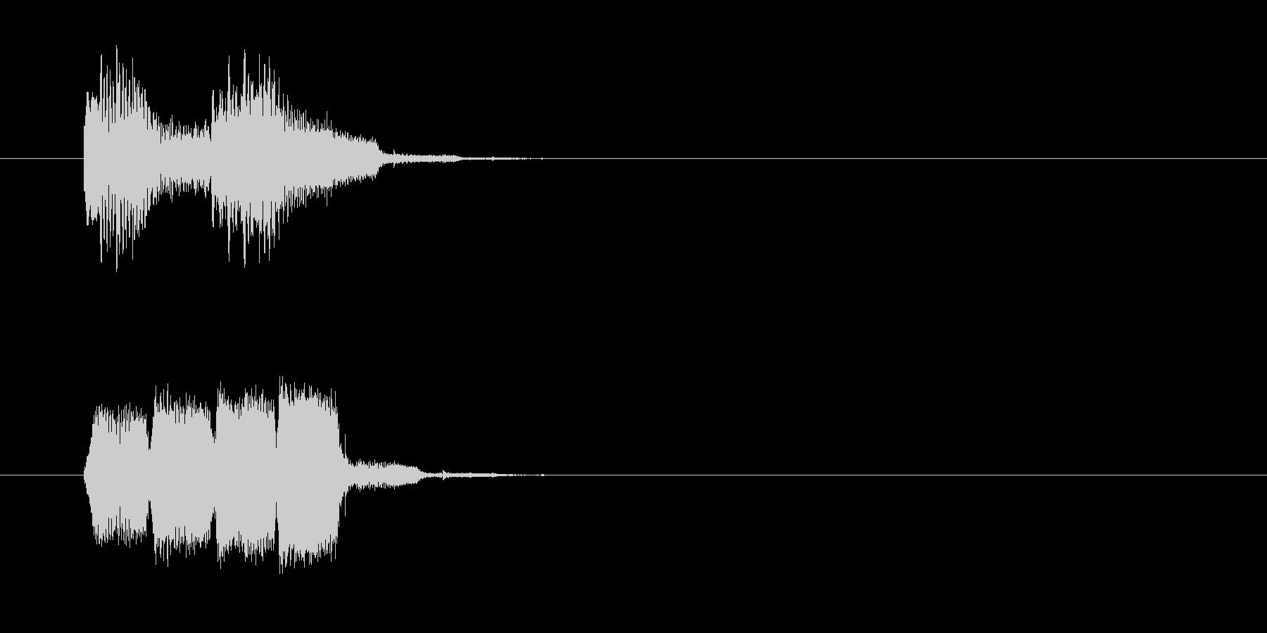 場面転換SE風コミカルなジングルの未再生の波形