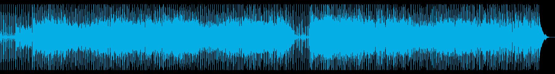 走る列車をイメージしたロックンロールの再生済みの波形