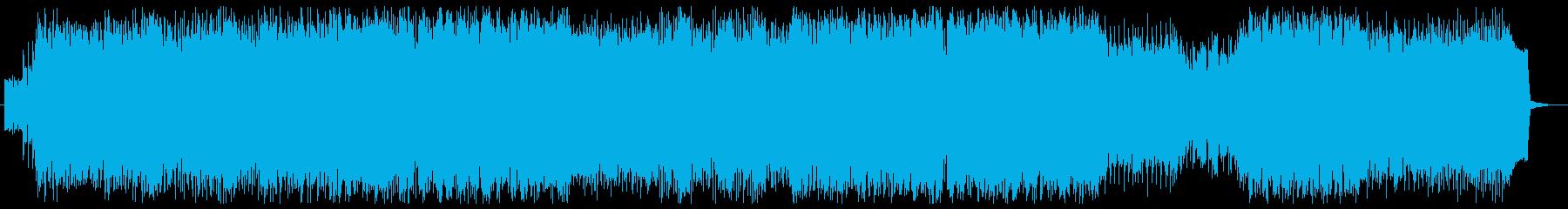 合いの手が入るパーティーロック調の楽曲の再生済みの波形