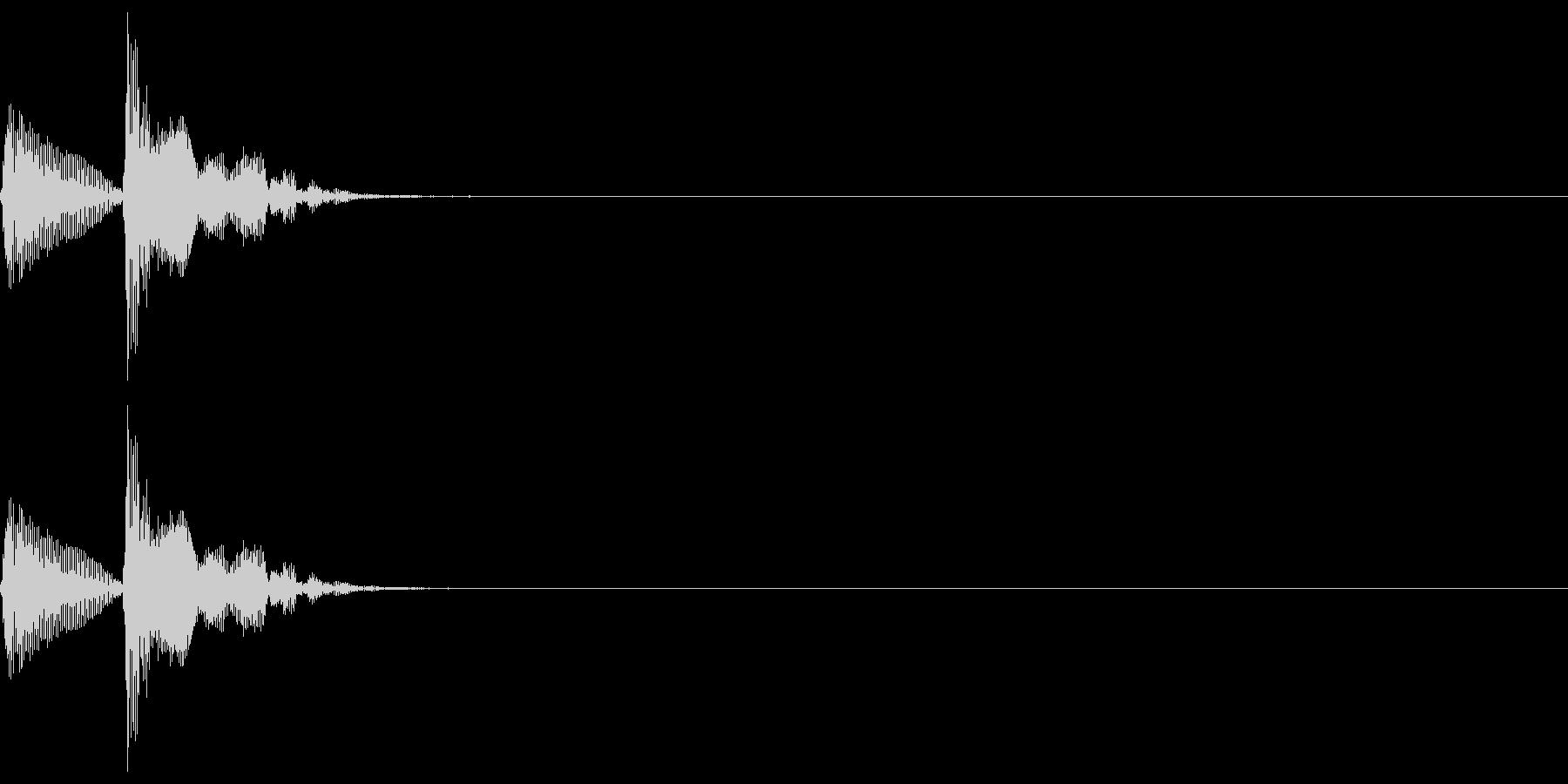 和楽器・鼓(つづみ)のポポン1の未再生の波形