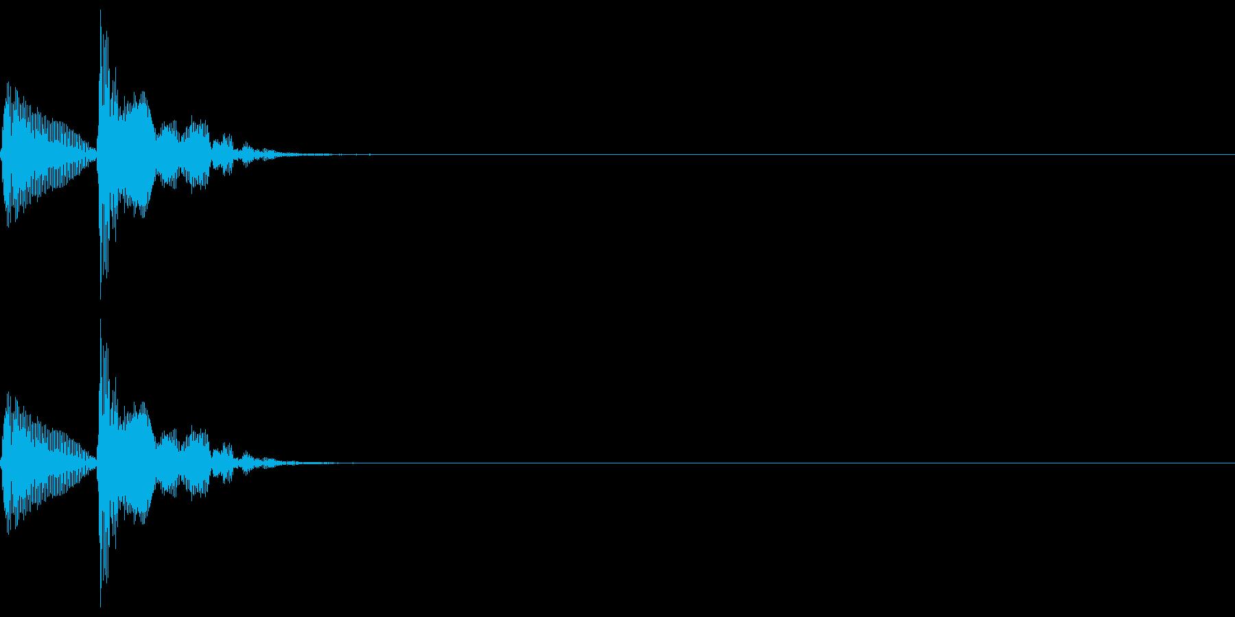 和楽器・鼓(つづみ)のポポン1の再生済みの波形