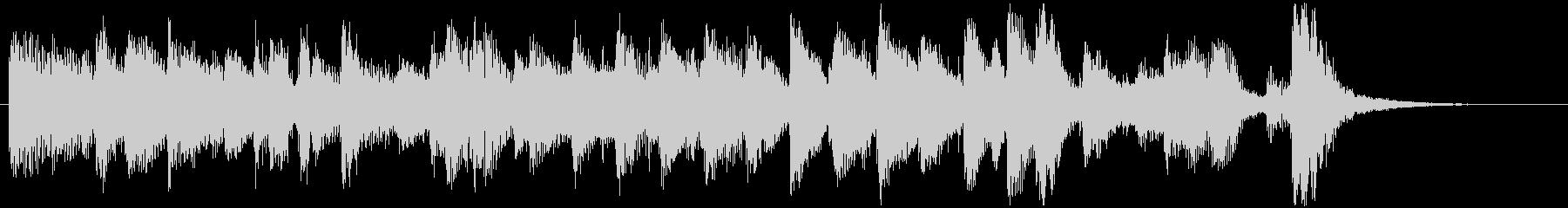 きらきらとしたピアノのジャズ風ジングルの未再生の波形