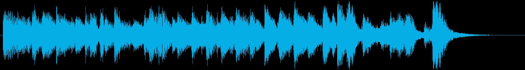 きらきらとしたピアノのジャズ風ジングルの再生済みの波形