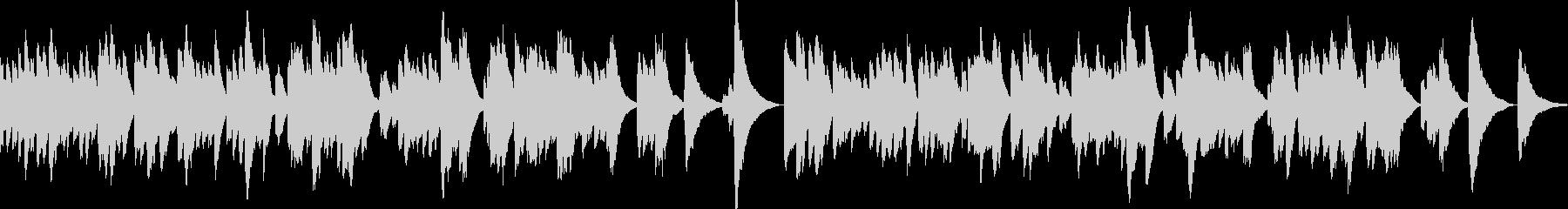 優しく切ないオルゴール曲の未再生の波形