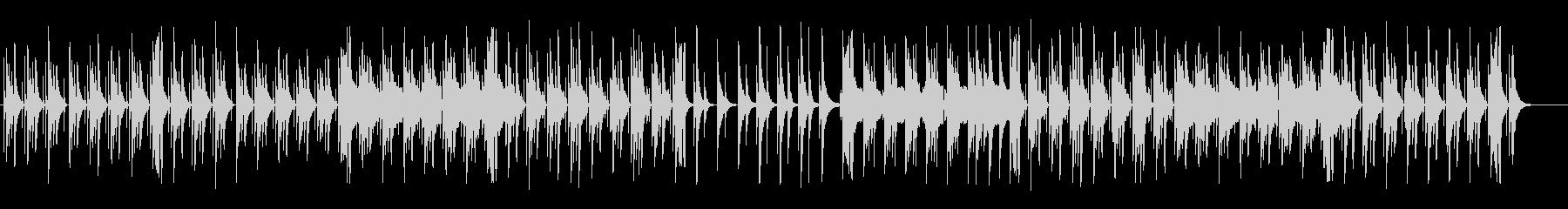 のどかで可愛い木琴フルートポップの未再生の波形