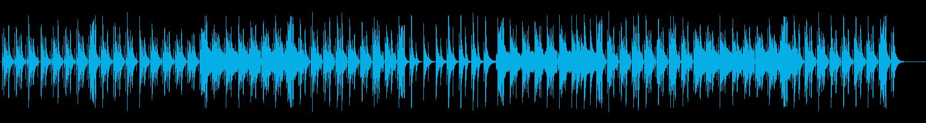 のどかで可愛い木琴フルートポップの再生済みの波形