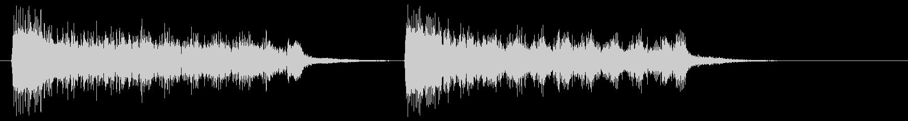 ショッキングシーン_トランペット2の未再生の波形