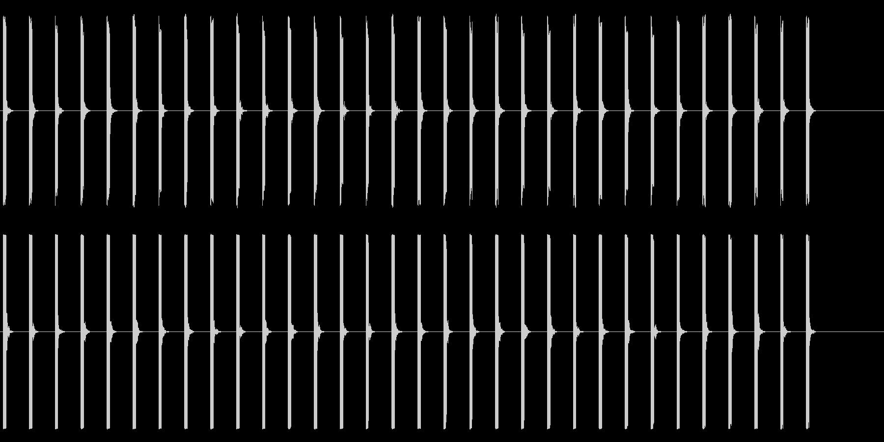 心電図の音-1-1(BPM40)の未再生の波形