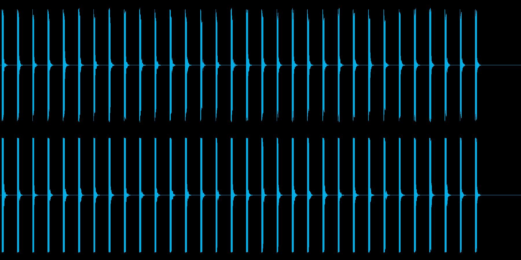 心電図の音-1-1(BPM40)の再生済みの波形