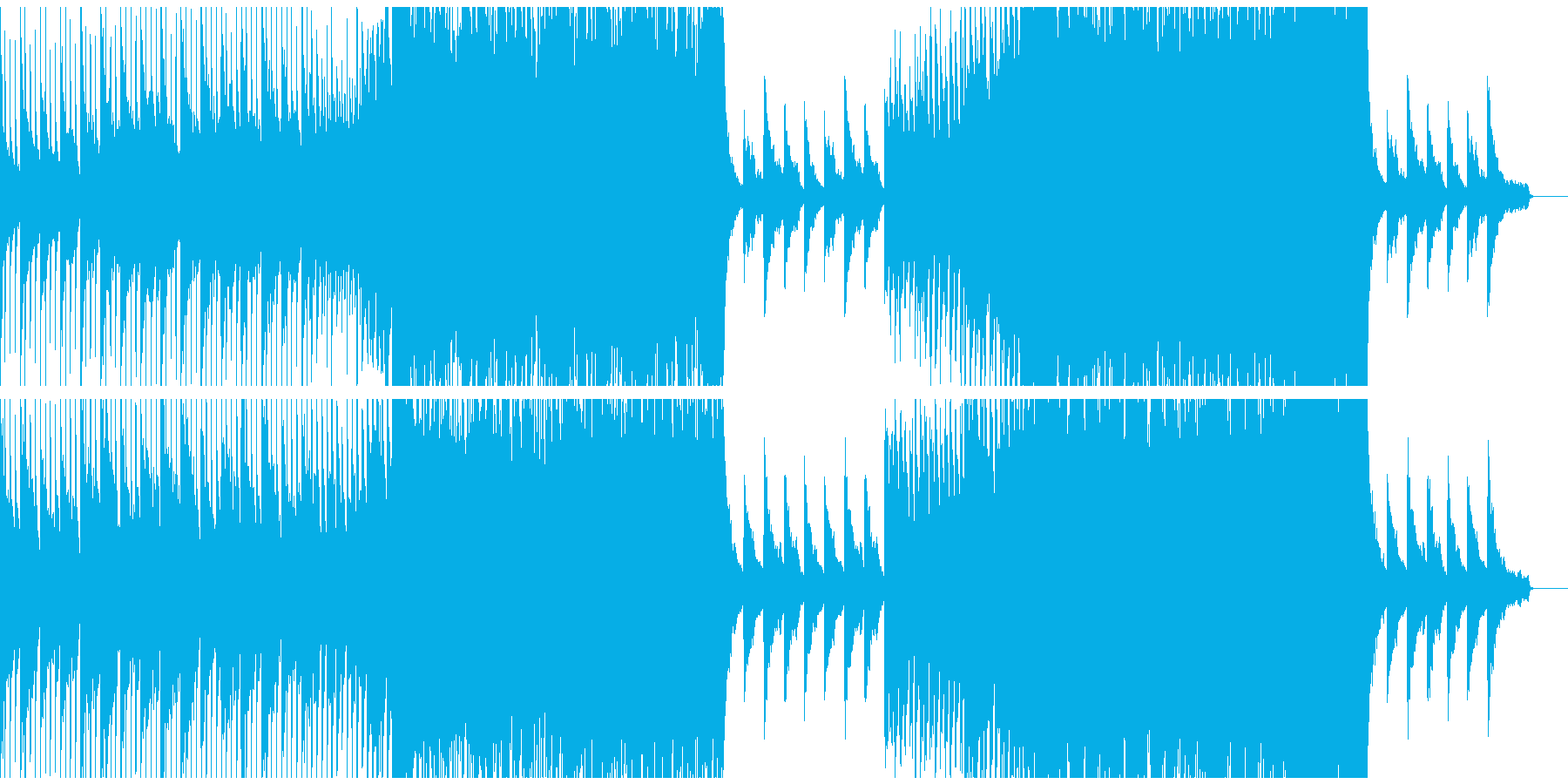ドラマティックで壮大なBGMの再生済みの波形
