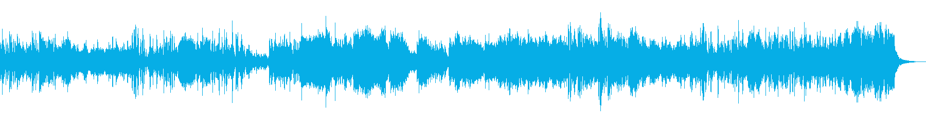 軽快なフルートによる「猫」っぽい小曲の再生済みの波形