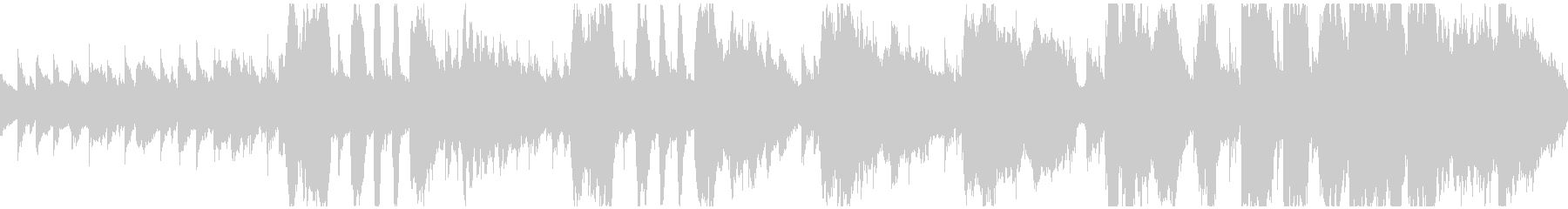 ループ仕様明るくかわいいビッグバンド風の未再生の波形