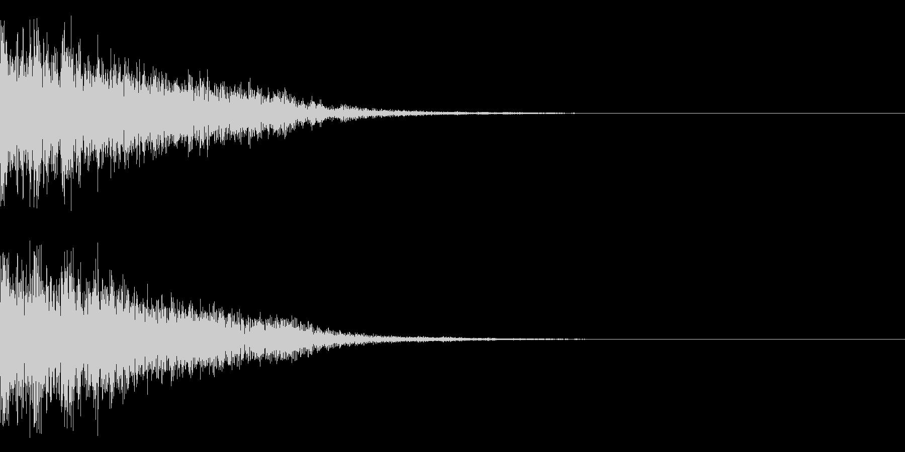 和風 決定音 クリック音02の未再生の波形