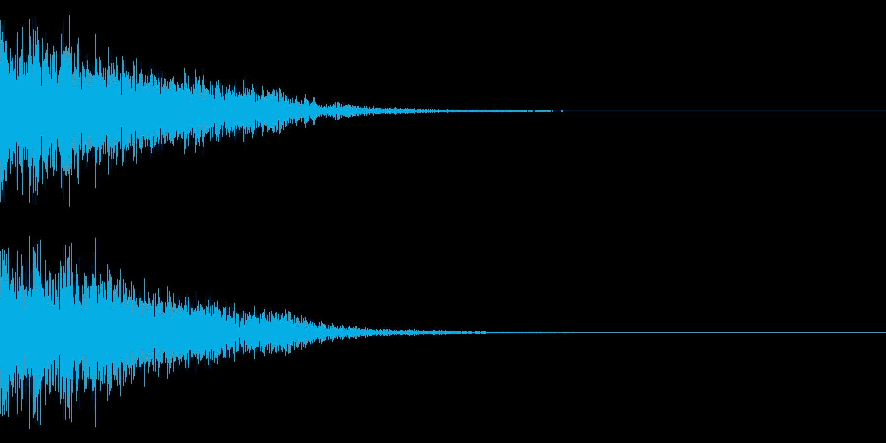 和風 決定音 クリック音02の再生済みの波形