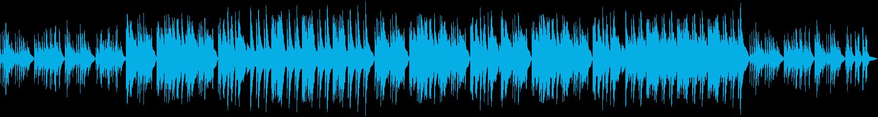 悲しくて切ないピアノソロのバラードの再生済みの波形