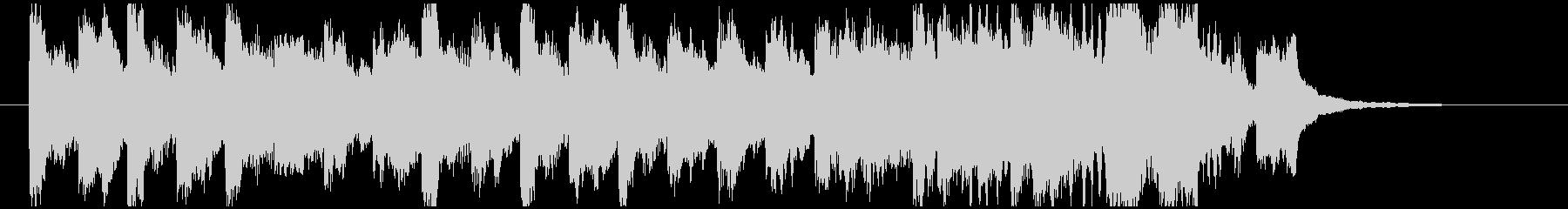 逃げ惑うシーンをイメージしたBGMの未再生の波形