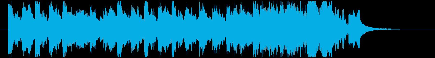 逃げ惑うシーンをイメージしたBGMの再生済みの波形