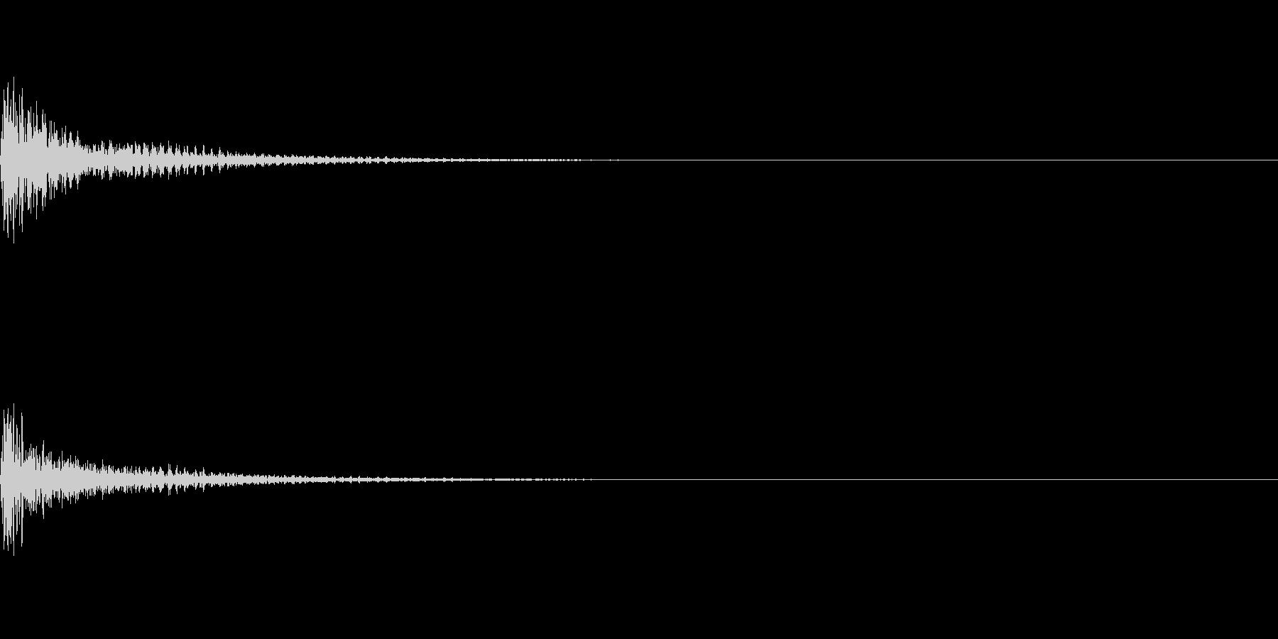 ミックス処理済みスネア(単発)04の未再生の波形