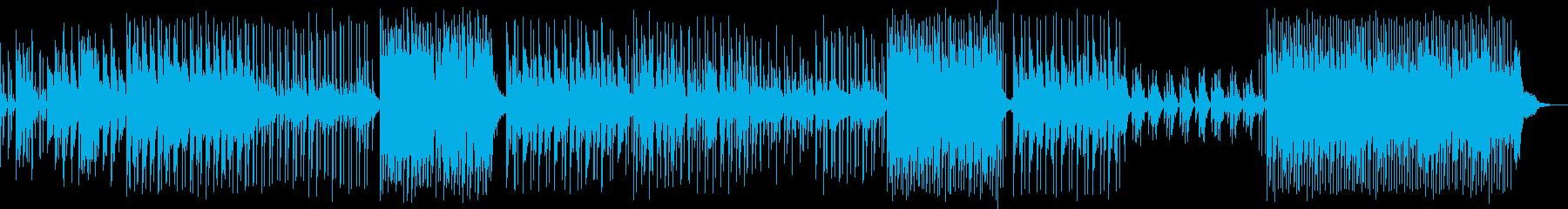 和風のゆったりとした雰囲気のBGMの再生済みの波形