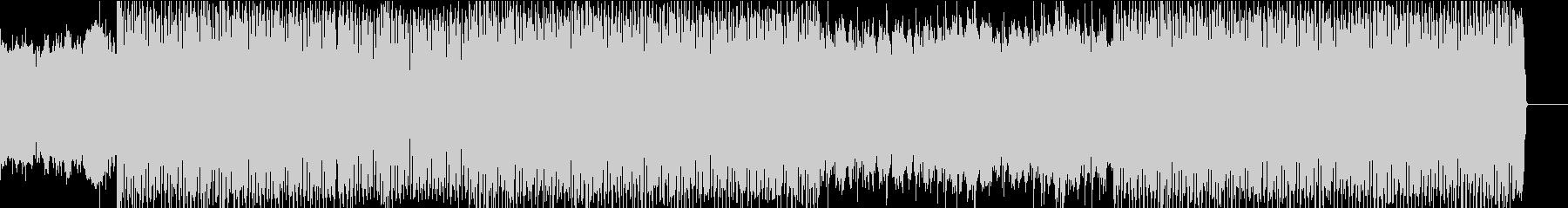 ハードなエレクトロダンスミュージックの未再生の波形