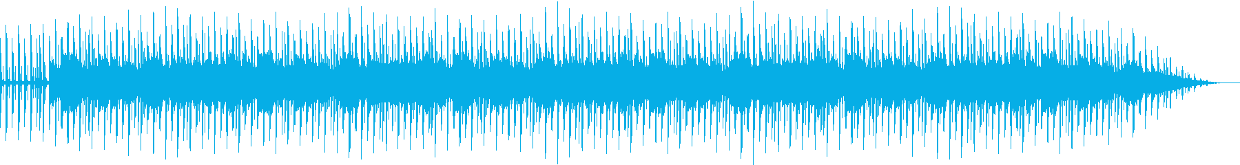 オシャレな深夜のラジオ配信用BGMの再生済みの波形