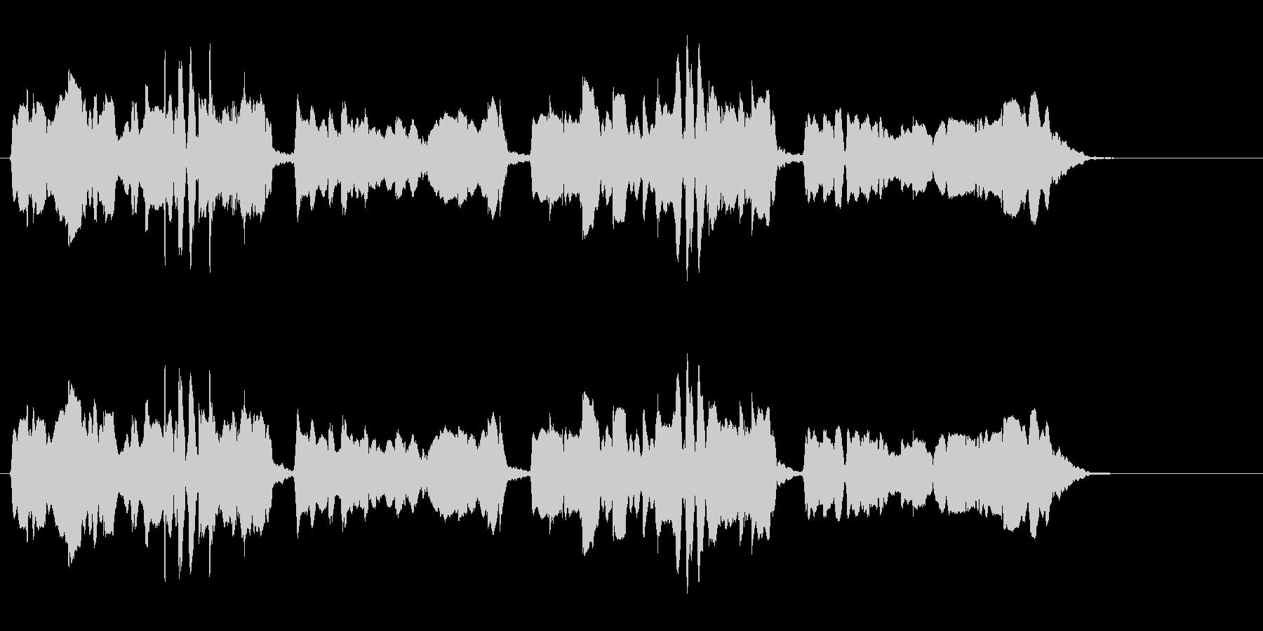 尺八 生演奏 古典風 残響音有 9の未再生の波形