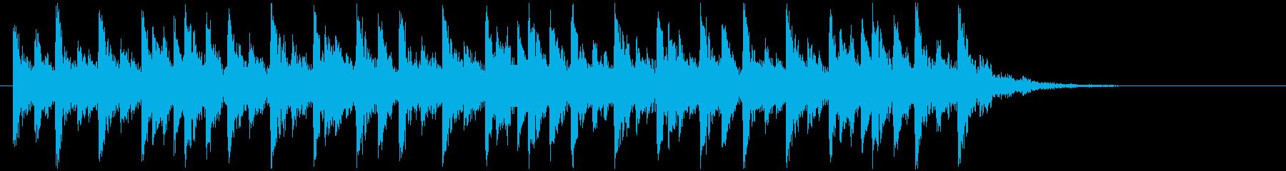リズミカルで不思議なシンセビートジングルの再生済みの波形