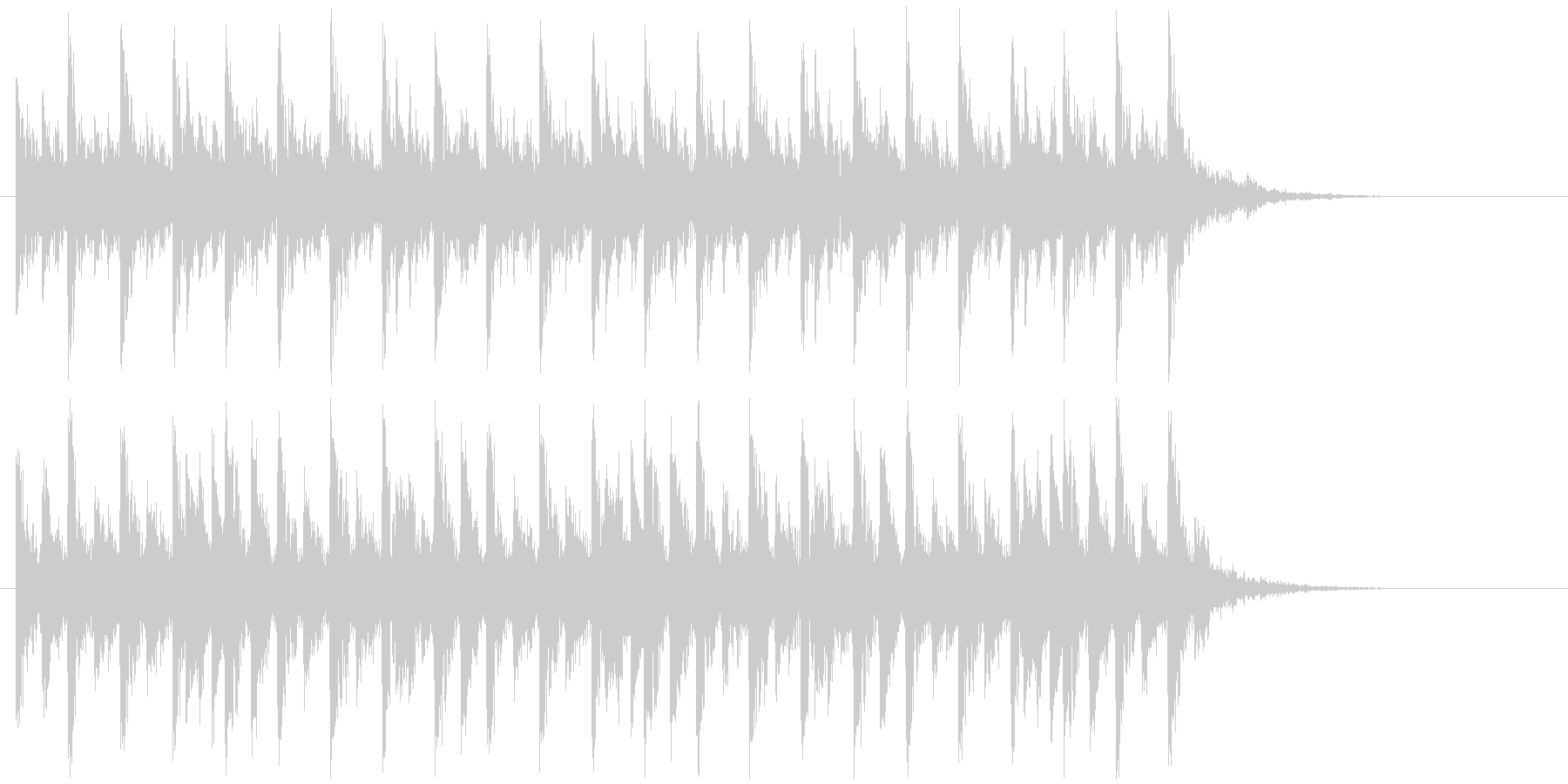 リズミカルで不思議なシンセビートジングルの未再生の波形