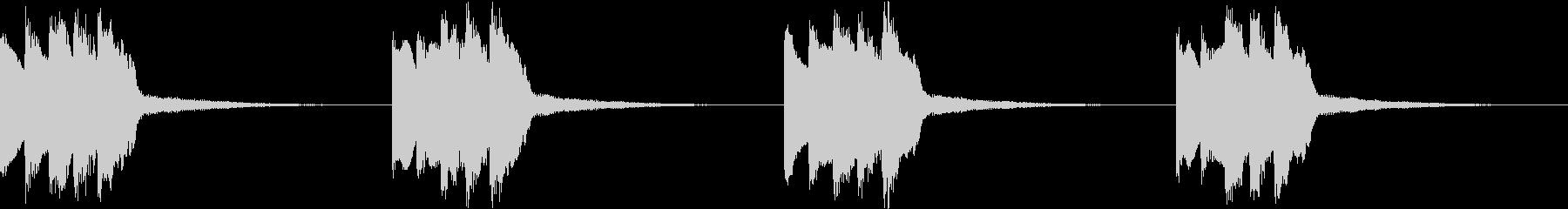 シンプル ベル 着信音 チャイム B19の未再生の波形