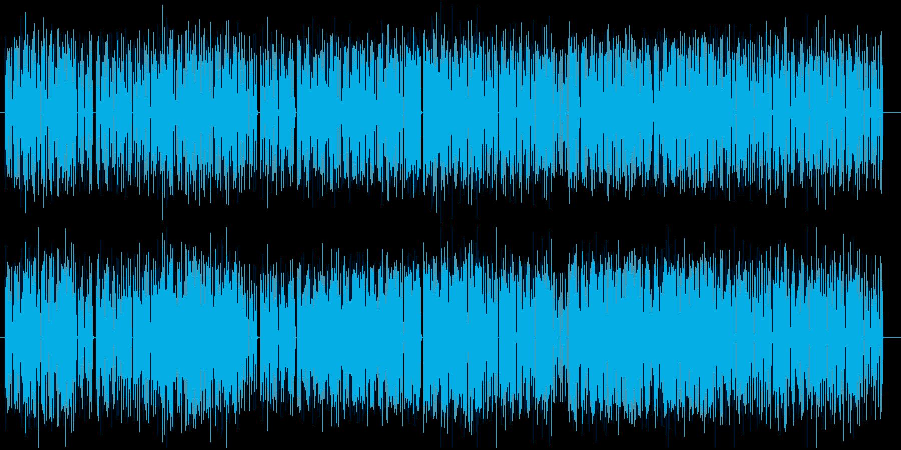 心踊るリズムのあるポップスの再生済みの波形