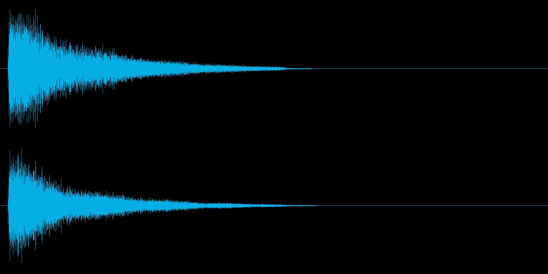場面 ショック ガーンの再生済みの波形