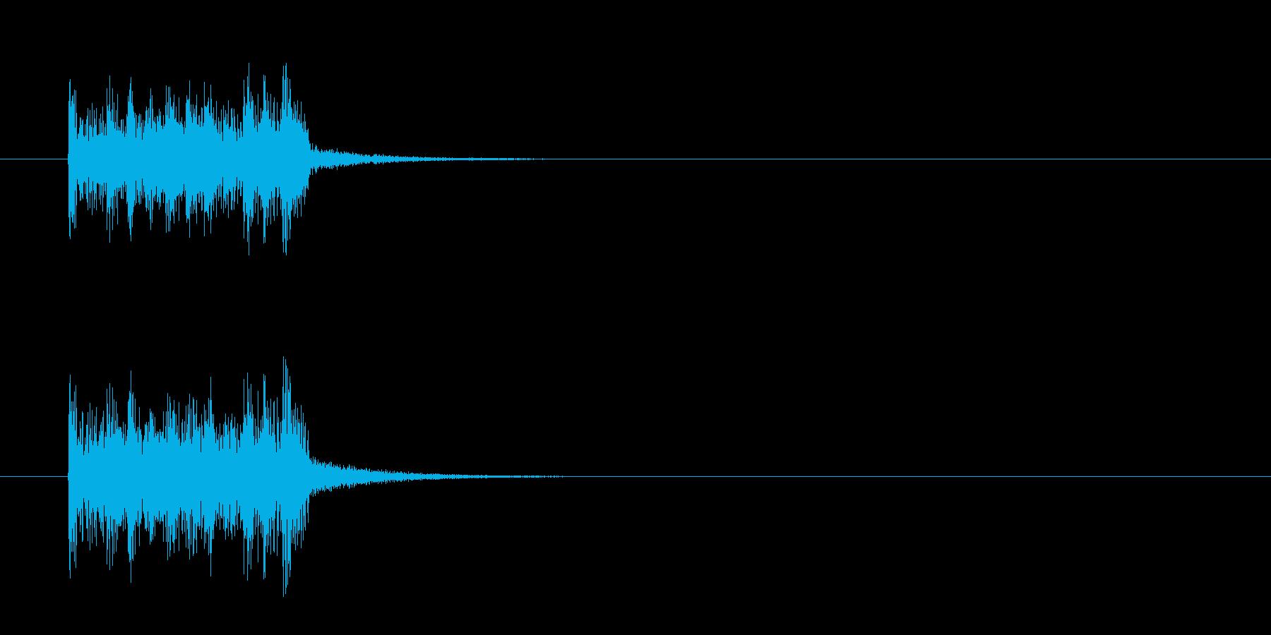 ジングル(衝撃!マイナー三面記事報道風)の再生済みの波形