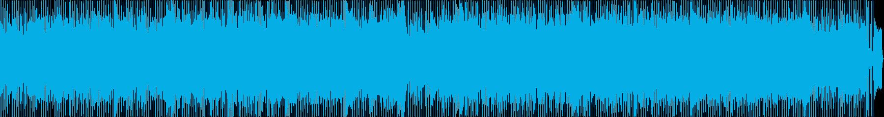 フュージョンにハウスのリズムを付けた曲の再生済みの波形