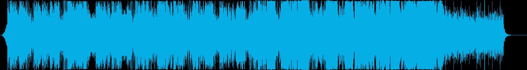 架空言語を歌うエレクトロニック系BGMの再生済みの波形