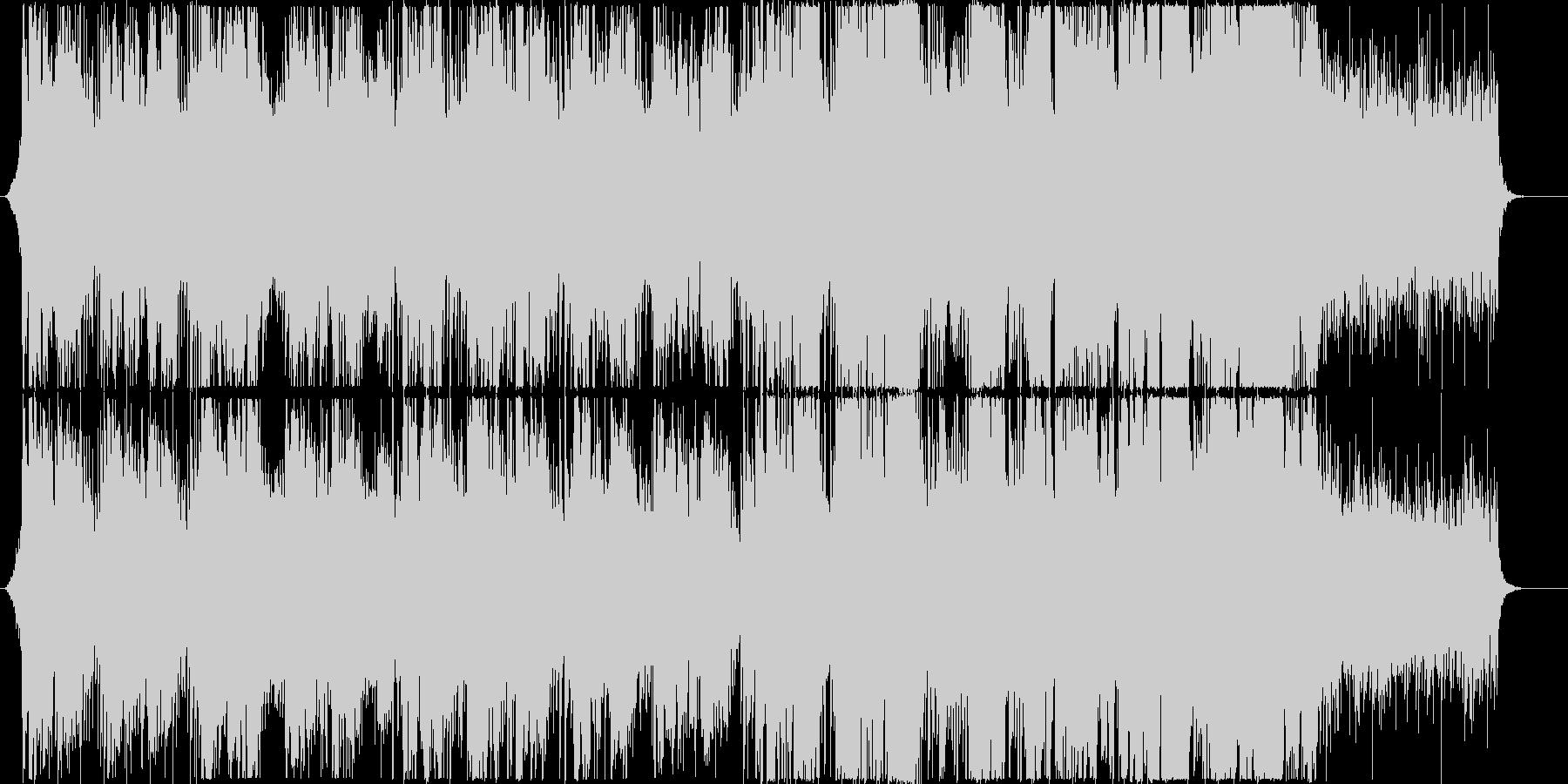 架空言語を歌うエレクトロニック系BGMの未再生の波形