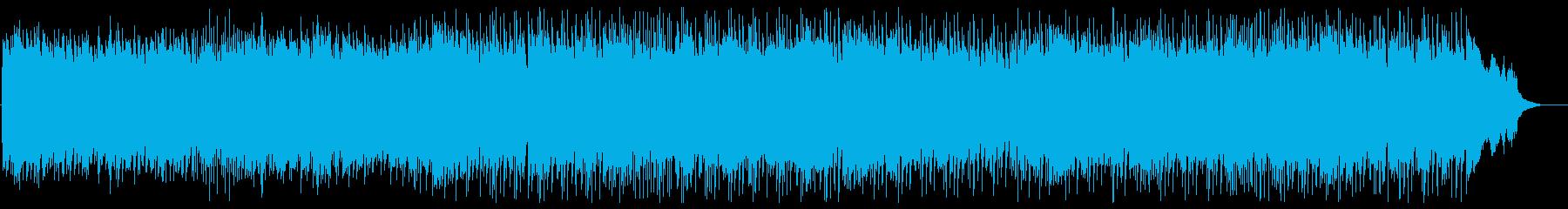 お洒落でゆったりできるメロディーの再生済みの波形