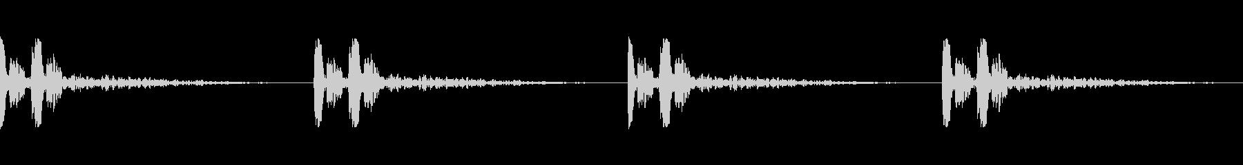 心臓の鼓動音の未再生の波形