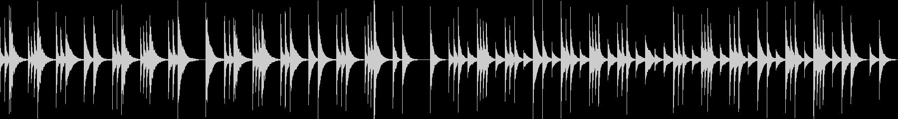 アメイジンググレイスのオルゴールアレンジの未再生の波形