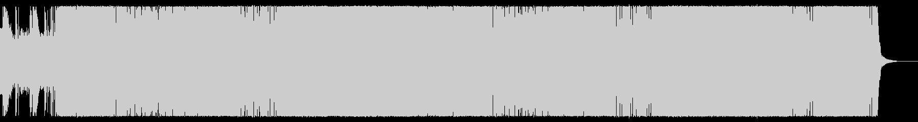 シャッフルリフが印象的なハードロックの未再生の波形
